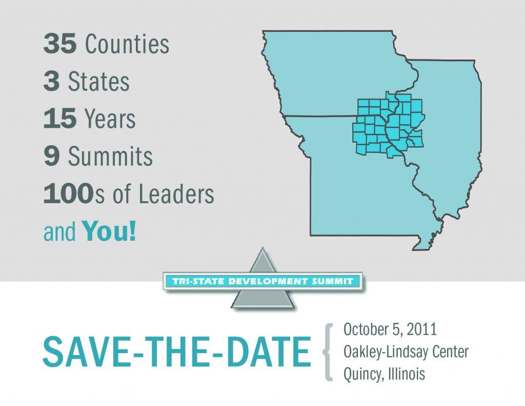 2011 Tri State Development Summit Save the Date Postcard